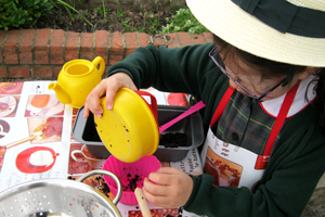St Benedict's budding chef's and mud pie makers