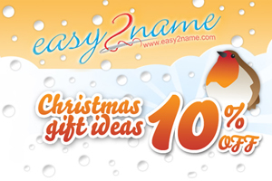 Save 10% on great personalised Christmas gifts